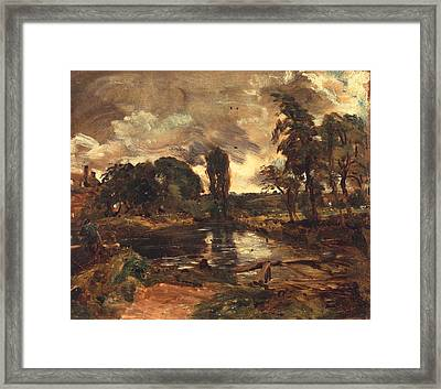 Flatford Mill From The Lock Framed Print by John Constable