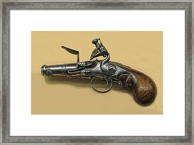 Flintlock Pistol Framed Print by Dave Mills