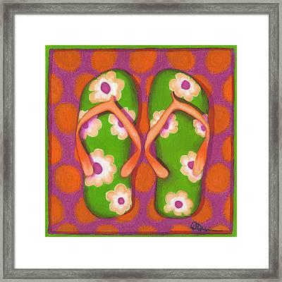 Flip Flops1 Framed Print by Debbie Brown