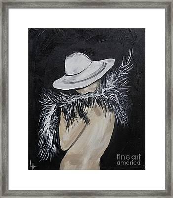 Flirt Framed Print by Leslie Allen