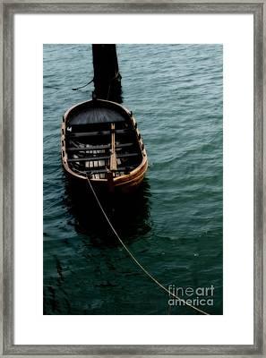 Floating Boat Framed Print by Hideaki Sakurai
