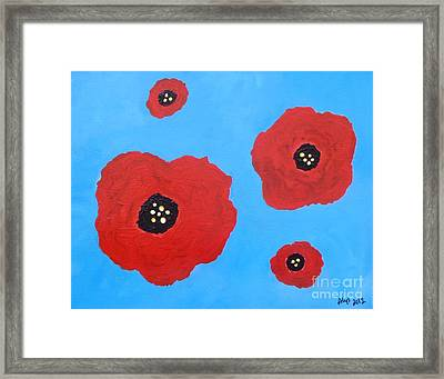 Floating Flowers Framed Print by Alys Caviness-Gober