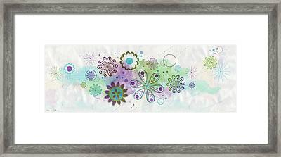 Floating Flowers Framed Print by Nomi Elboim