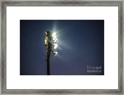 Floodlights Framed Print by John Greim