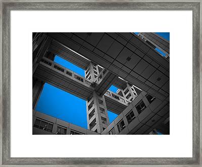 Floors Of Fuji Building Framed Print by Naxart Studio