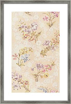 Floral Design With Peonies Lilies And Roses Framed Print by Anna Maria Garthwaite