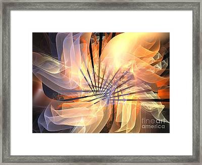 Floral Supernova Framed Print by Kim Sy Ok
