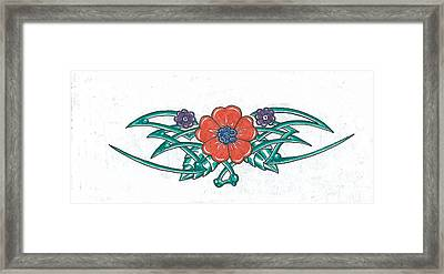 Floral Trible Framed Print by Kevin Lea