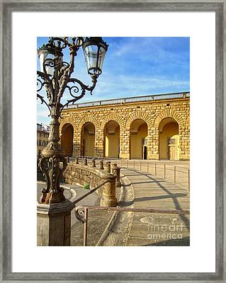 Florence Italy - Pitti Palace - 01 Framed Print by Gregory Dyer