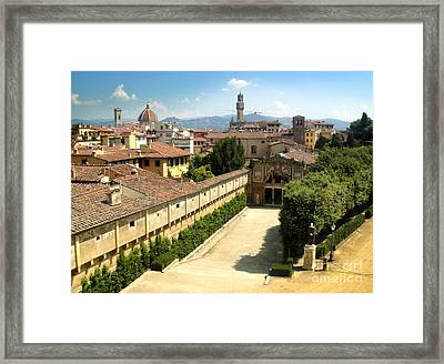 Florence Italy - Pitti Palace - 02 Framed Print by Gregory Dyer