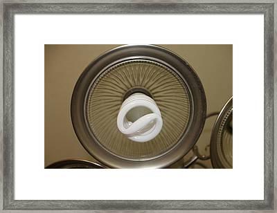 Florescent Light Framed Print by Carlton Pecot