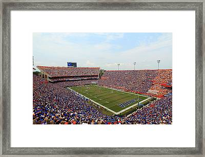 Florida  Ben Hill Griffin Stadium On Game Day Framed Print by Getty Images