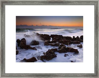 Florida Sea Explosion Framed Print by Mike  Dawson