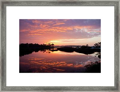 Florida Sunrise Framed Print by Charles Warren