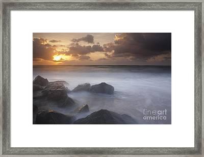 Florida Sunrise Framed Print by Keith Kapple