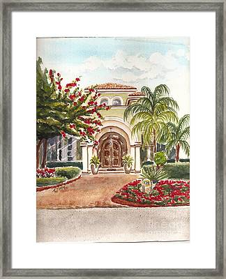 Floridian Ease Framed Print by Andrea Timm