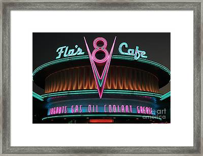 Flos Cafe - Radiator Springs Cars Land - Disney California Adventure - 5d17760 Framed Print by Wingsdomain Art and Photography