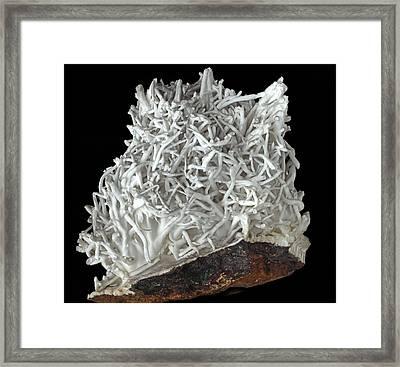 Flos-ferri Aragonite Framed Print by Dirk Wiersma