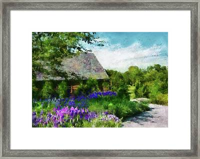 Flower - Town Square  Framed Print by Mike Savad