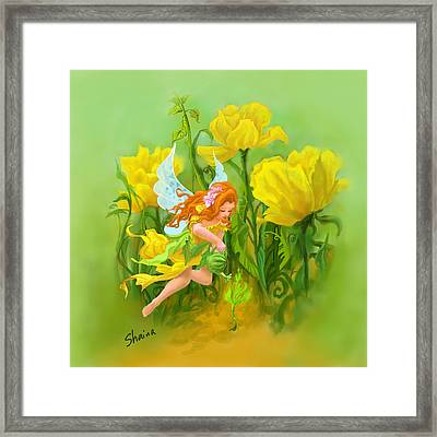 Flower Fairy Framed Print by Shaina  Lee