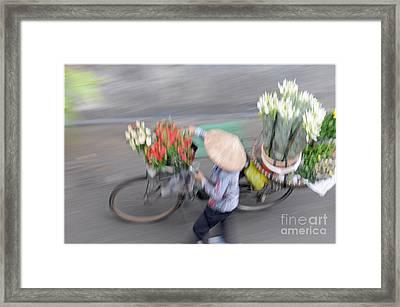 Flower Seller Framed Print by Marion Galt
