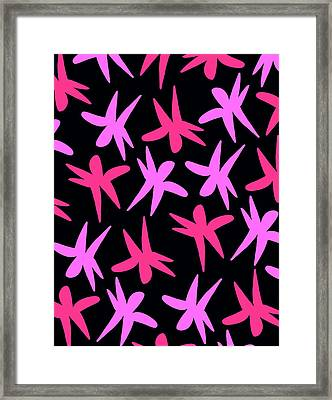 Flower Stars  Framed Print by Louisa Knight
