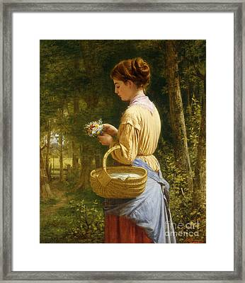 Flowers From The Woods Framed Print by JO Bank