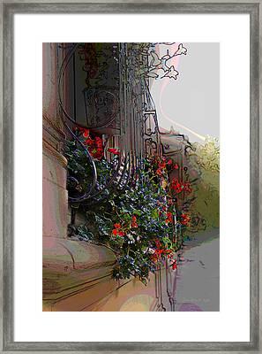 Flowers In A Window Box Framed Print by Jan Lowe