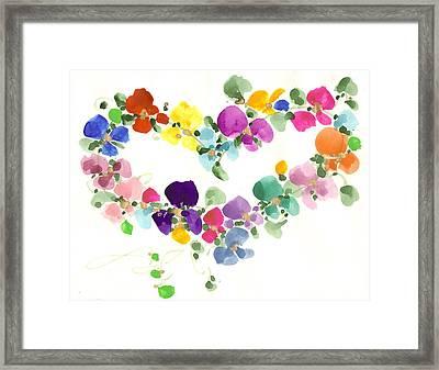 Flowers In My Heart Framed Print by Darlene Flood