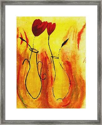 Flowers Framed Print by Sanjay Avasarala