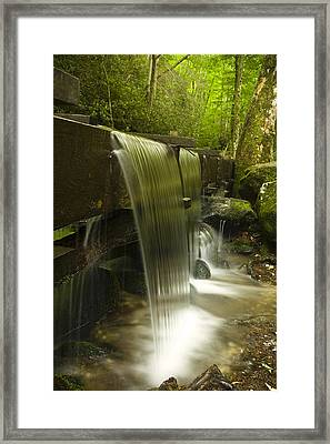 Flowing Water Framed Print by Andrew Soundarajan