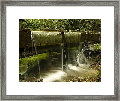 Flowing Water From Mill Framed Print by Andrew Soundarajan