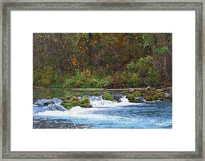Flowing Water Framed Print by Julie Grace