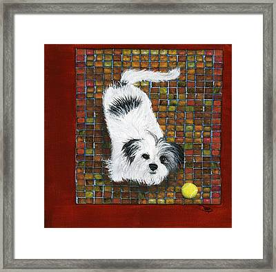 Fluffy The Fluffmeister Framed Print by Debbie Brown