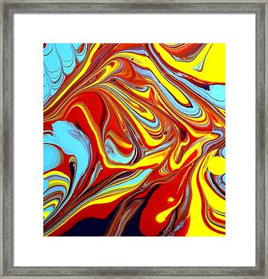 Fluid Abstracts 2011 Framed Print by Holly Anderson