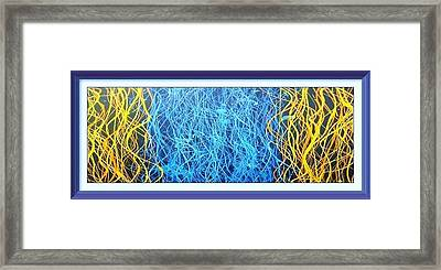 Fluid Strings Enhanced Framed Print by Robert Anderson