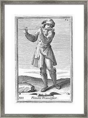 Flute, 1723 Framed Print by Granger