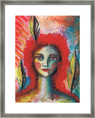 Fly Away Framed Print by Christy Sobolewski
