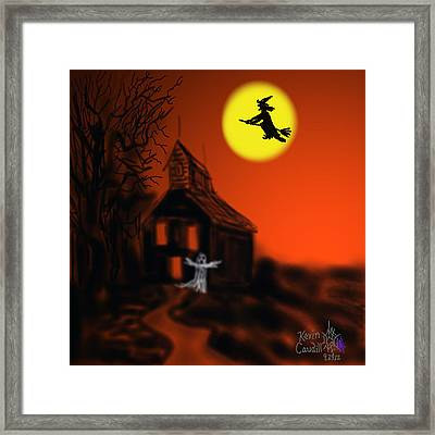 Fly By Night Framed Print by Kevin Caudill