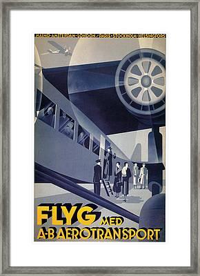 Flyg Med Aero Transport Framed Print by Anders Beckman