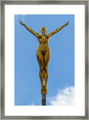 Flying Angel Framed Print by Donald Davis