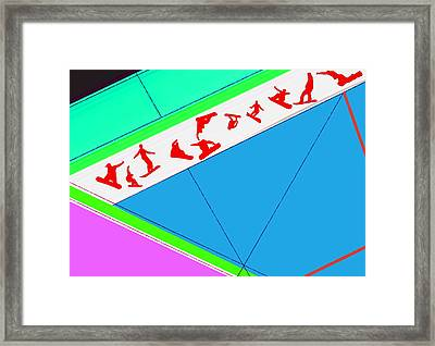 Flying Boards Framed Print by Naxart Studio