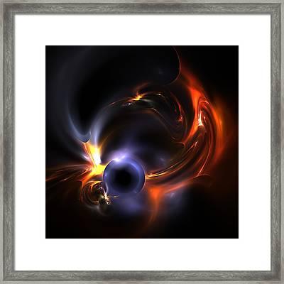 Flying Eye Framed Print by Steve K