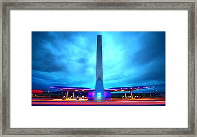 Flying Fuelstation Framed Print by Thomas Splietker