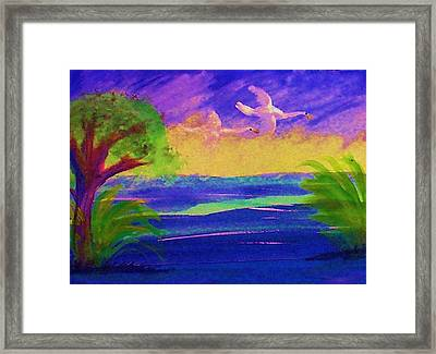 Flying Home Framed Print by Anna Lewis