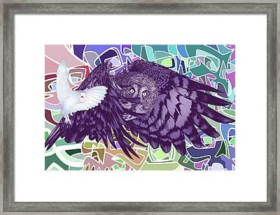 Flying Over Skulls Framed Print by Nelson Dedos Garcia