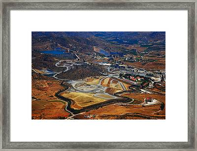 Flying Over Spanish Land II Framed Print by Jenny Rainbow