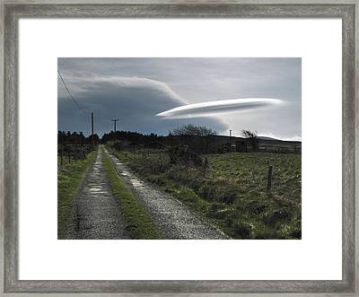 Flying Saucer Cloud Framed Print by Cordelia Molloy