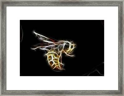 Flying Wasp Framed Print by Paul Ward