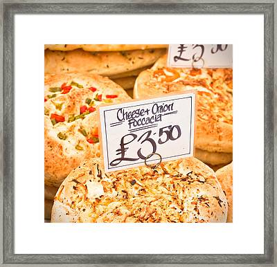 Foccacia Framed Print by Tom Gowanlock